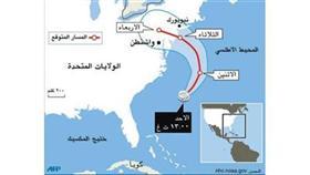 خريطة توضح مسار الإعصار «ساندي»