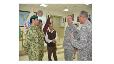 وفد من الحرس الوطني يزور معسكر «عريفجان» الأمريكي لتبادل الخبرات في الاعلام