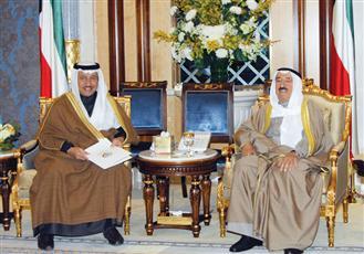 الأمير استقبل جابر المبارك والخرافي والحمود وبراون