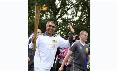 زيد الرفاعي: مشاركتي في حمل الشعلة الأولمبية شرف كبير لي