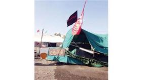 وخيمة في الرميثية بعد سقوطها