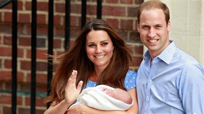 الأمير وليام وكيت يسميان المولود الجديد «جورج الكسندر لويس»