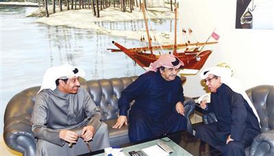 عبدالحسين يستقبل اللهو والرقعي في مكتبه