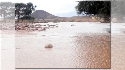 أمطار غزيرة وسيول في ولاية «جعلان» بالسلطنة