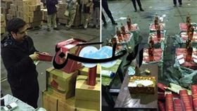 «فيديو وصور».. إحباط إدخال 3500 زجاجة خمر من ميناء الشويخ
