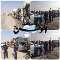١٠٠ مخالفة على الشاحنات وخلاطات الأسمنت في حملة نفذتها «مرور الفروانية» على طريق كبد