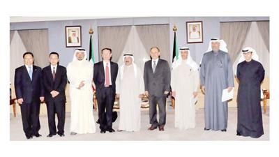 ناصر الصباح استقبل وفد اللجنة الصينية للتنمية والإصلاح
