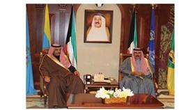 ولي العهد استقبل رئيس الوزراء وصباح ومحمد الخالد