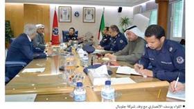 اللواء الأنصاري استقبل «جلوبال روجكت»: حريصون على التطوير في الموارد البشرية