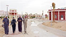نبيلة الخليل اثناء جولتها في منطقة القيروان