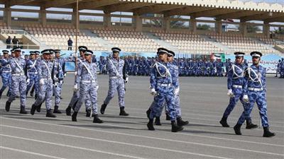 الفريق الفهد يشهد بروفة حفل التخرج للدفعة 41 من الطلبة الضباط والدفعة 26 لضباط الاختصاص