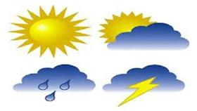 الطقس المتوقع اليوم الإثنين الموافق 23 / 2 / 2015