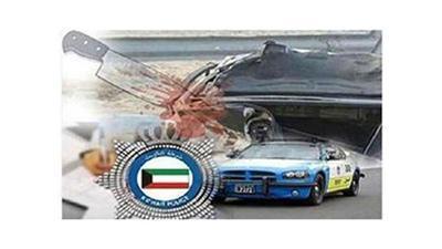 إصابة مواطنين وهندي في حادثين مروريين منفصلين