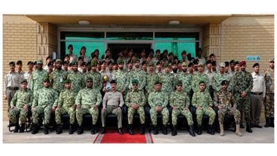 الحرس الوطني يحتفل بتخريج دورة المشاة المتقدمة للضباط ودورة أغرار حرس مجلس الأمة