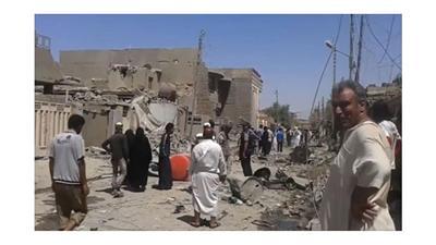 مقتل وإصابة 15 شخصاً في قصف لطيران التحالف شرقي الفلوجة العراقية