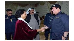 فريحة الأحمد زارت النقطة الأمنية وهنأت رجال الداخلية