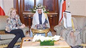 الأمير بحث العلاقات مع رئيسة وزراء الدنمارك