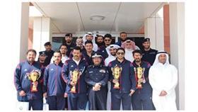 اللواء الأنصاري يكرم الفائزين ببطولة التحدي ودوري الوزارات