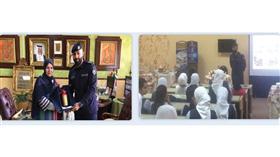 «الإطفاء» حاضرت عن مبادئ الإطفاء والسلامة في «شريفة العوضي»