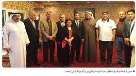 الوزير: أصررت على لقاء النجم عبدالحسين عبدالرضا لاعجابي بأعماله ومشاركتي إياه الاسم