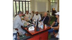 السفير سامي سليمان اثناء زيارته دار العلوم في الهند
