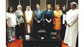 وفد بيت الكويت للأعمال الوطنية خلال زيارتهم للرئيس القبرصي