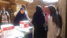 توزيع المساعدات الكويتية على الاسر المتعففة