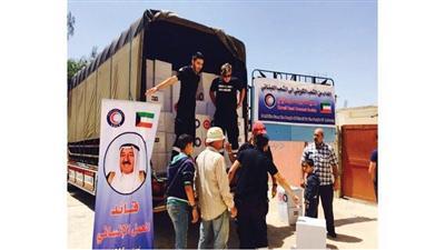 توزيع المساعدات على الأسر اللبنانية