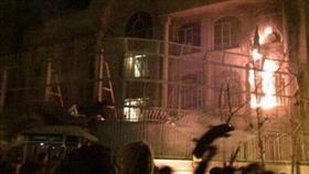 مسؤول ايراني: توقيف 40 متظاهراً بعد الهجوم على السفارة السعودية في طهران