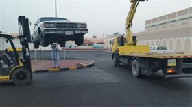رفع 15 سيارة في مبارك الكبير