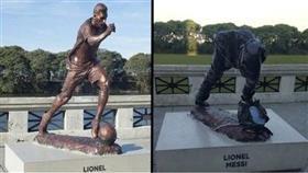 قطع رأس تمثال ميسي في الأرجنتين