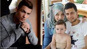 رونالدو يعد خطة لمساعدة الطفل السوري ضحية داعش للعيش في بريطانيا