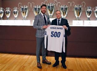 ريال مدريد  يُكرّم راموس بقميص الميرينجي الإستثنائي