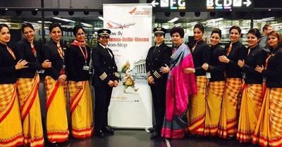 شركة طيران هندية تسجل رقماً قياسياً عالمياً لأول رحلة حول العالم بطاقم نسائي كامل
