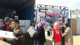 400 سلة إغاثية من الكويت للنازحين بلبنان