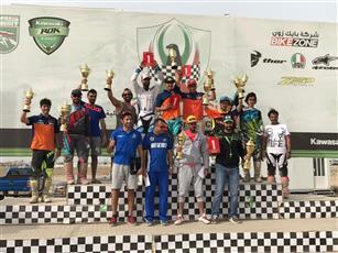 اختتام منافسات الجولة الخامسة من بطولة الكويت للـ «موتو.كروس»
