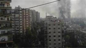 أعمدة الدخان تتصاعد عند أطراف دمشق