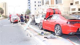 إصابتين في حادث تصادم بالسالمية