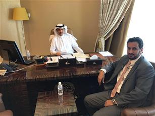 د.محمد المطيري والنائب خالد العتيبي على هامش اللقاء
