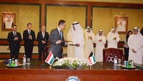 وزير الخارجية يستقبل وزير الخارجية والتجارة في هنغاريا