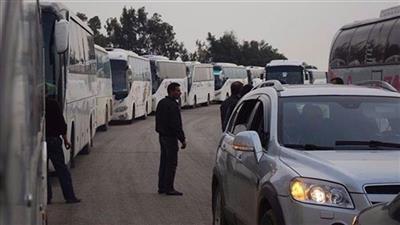 قافلة حافلات لنقل مسلحي وأهالي الزبداني لجنوب حلب