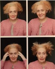 بالصور - آديل تتحول لـ «عجوز» في عيد ميلادها الـ29
