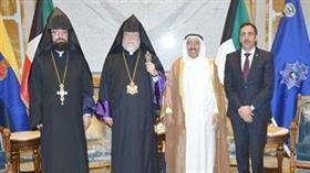 سمو الأمير يستقبل غبطة البطريرك الكاثوليكوس آرام الاول