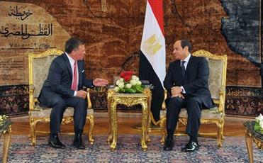 العاهل الاردني والرئيس المصري يؤكدان ضرورة مكافحة الارهاب