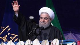الرئيس الحالي المعتدل حسن روحاني