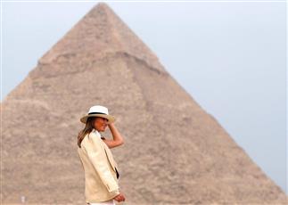 ميلانيا ترامب تنتقد زوجها من القاهرة