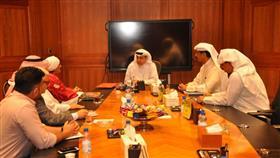 وكيل وزارة الكهرباء والماء المهندس محمد بوشهري والأمين العام للأمانة العامة لنقطة الارتباط الكويتية لمشاريع البيئة نهيل العبدالرزاق