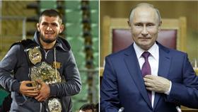 البطل حبيب محمدوف في طريقه للقاء الرئيس بوتين