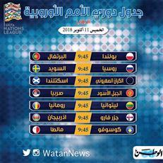 مواجهات قوية في دوري الأمم الأوروبية لكرة القدم
