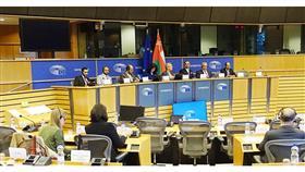 جانب من الاجتماع البرلماني العماني الأوروبي المشترك الذي استضافته بعثة البرلمان الأوروبي للعلاقات مع شبه الجزيرة العربية